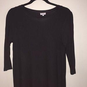 Tobi stretchy black t-shirt dress